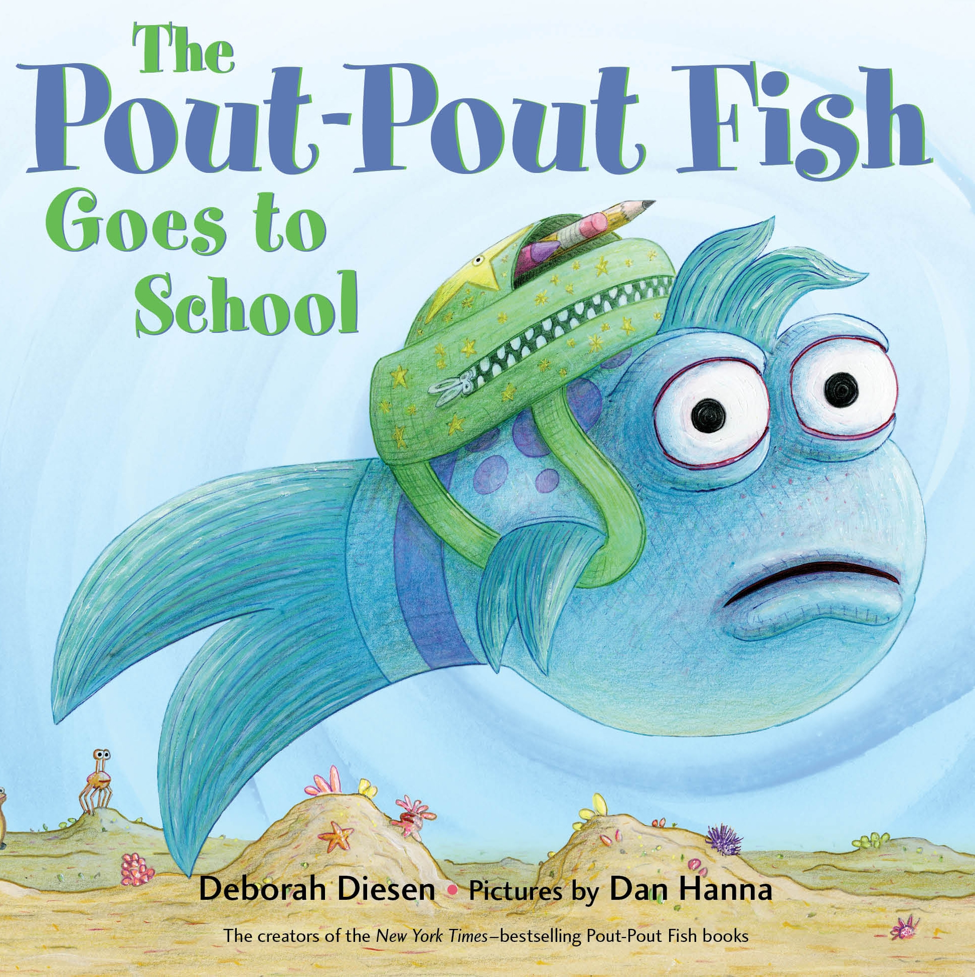 Pout Pout Fish Goes to School (Board Book)