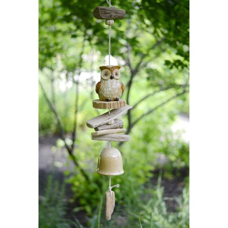 Owl Wind Chimes (Red Carpet Studios Hanging Wood Owl Wind)