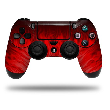Vinyl Skin Wrap for Sony PS4 Dualshock Controller Fire Red (CONTROLLER NOT
