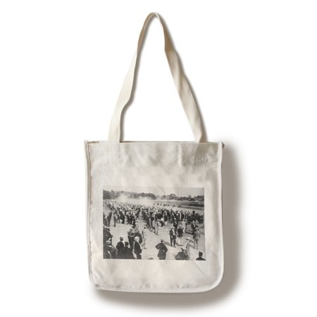 Horse Racing Photo (Horse Racing in Saratoga Photograph (100% Cotton Tote Bag -)