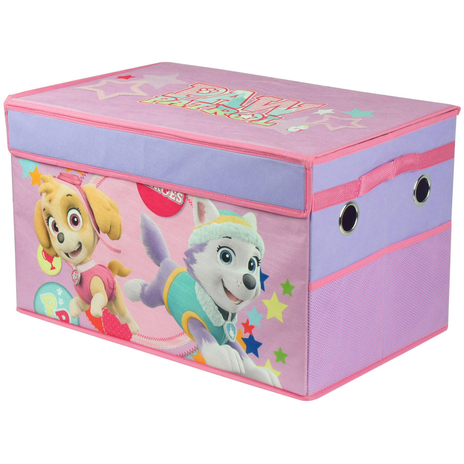 Paw Patrol Kids Toy Organizer Bin Children S Storage Box: Paw Patrol Girl Collapsible Toy Storage Trunk