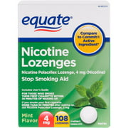 Equate Lozenge 4 Mg Mint Flavor Stop Smoking Aid - 108 Ct