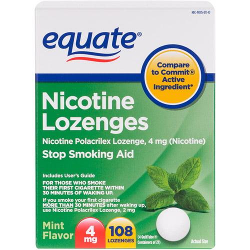 Equate Lozenge 4 Mg Mint Flavor Stop Smoking Aid - 108 Ct