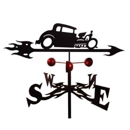 Handmade Hot Rod Auto Car Steel Weathervane Side Mount by Overstock