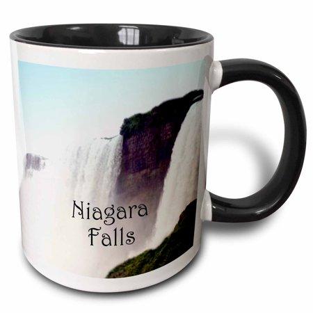 3dRose Niagara Falls - B, Two Tone Black Mug, - Niagara Falls Plate