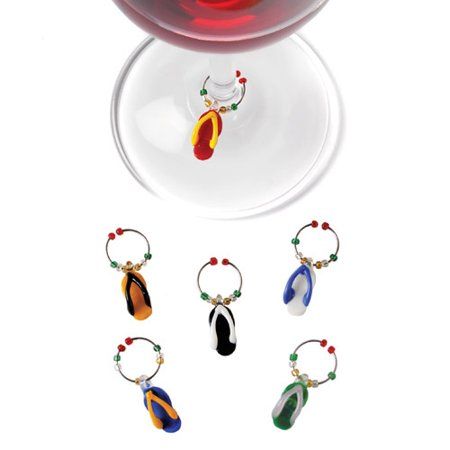 Flip Flopâ ¢: Glass Wine Charms
