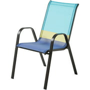 Mainstays Heritage Park Stacking Sling Chair, Color Block,Cool