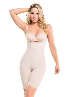 255ba956634a1 Product Image Fajate Colombianas Seamless Thermal Action Mid-Thigh Body  Shaper 1585 LARGE Color  NUDE