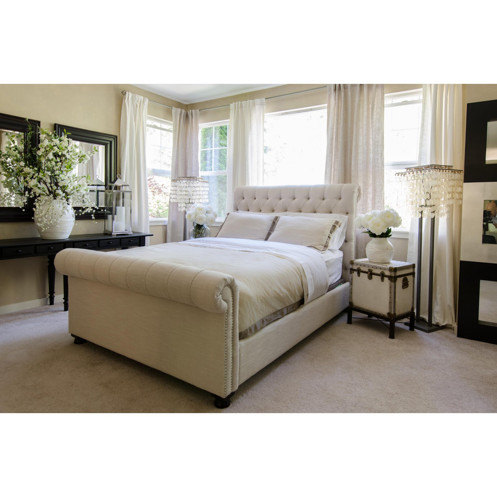 Elements Fine Home Tribeca Upholstered Sleigh Bed by Elements Fine Home Furnishings