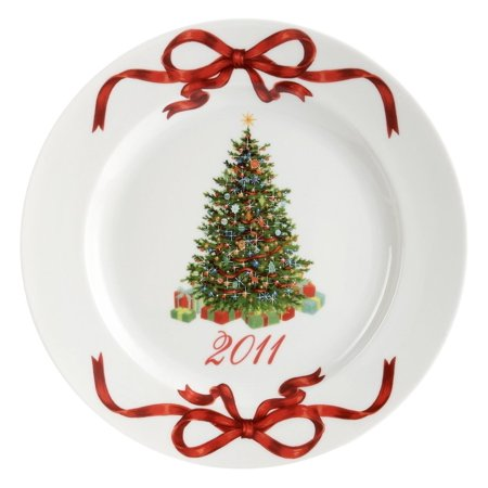 Martha Stewart Collection Dinnerware, Holiday Garden 2011 Tree Plate - Holiday Plates