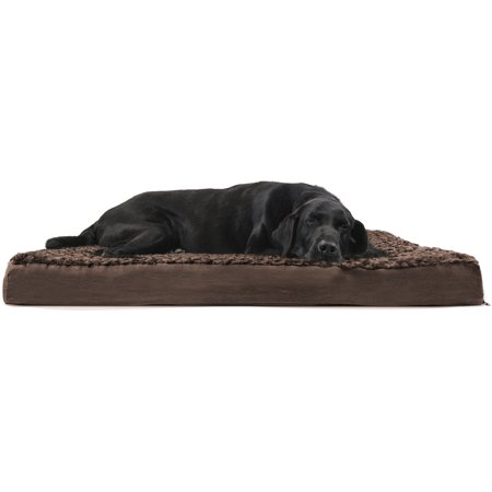 FurHaven Pet Dog Bed | Deluxe Orthopedic Ultra Plush Mattress Pet Bed for Dogs & Cats, Chocolate, - Plush Cat Bed