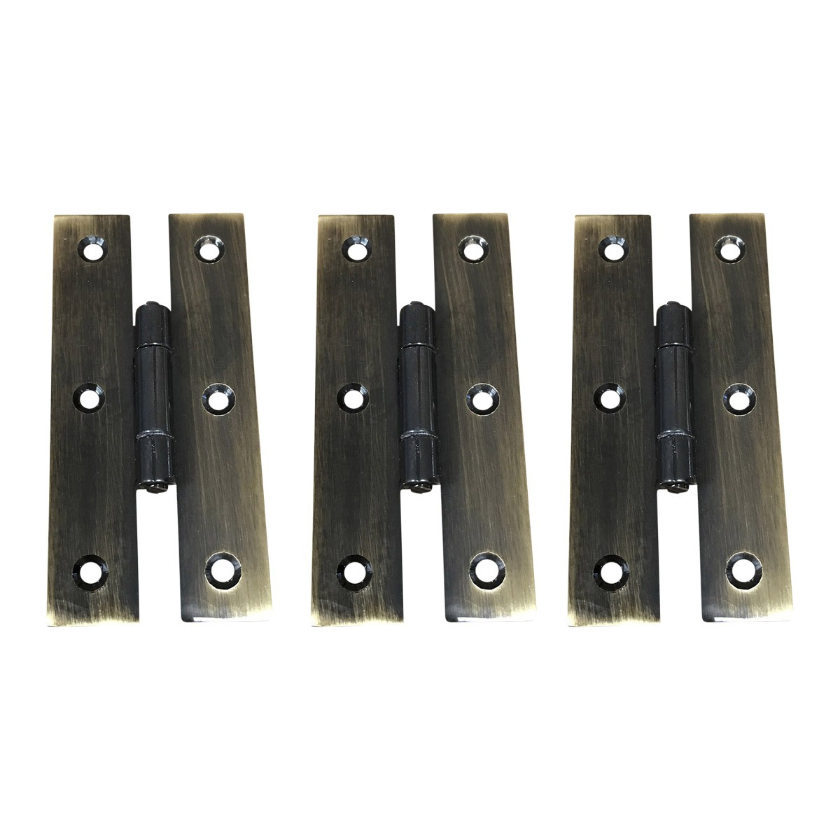 "3"" Oil Rubbed Bronze Cabinet Flush H Hinge Pack of 3"