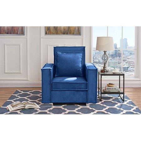 Living Room Large Velvet Armchair Navy Walmart Com