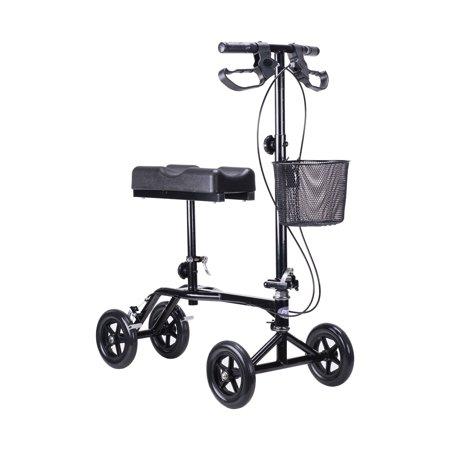 Foldable Steerable Knee Walker Scooter With Brakes Basket