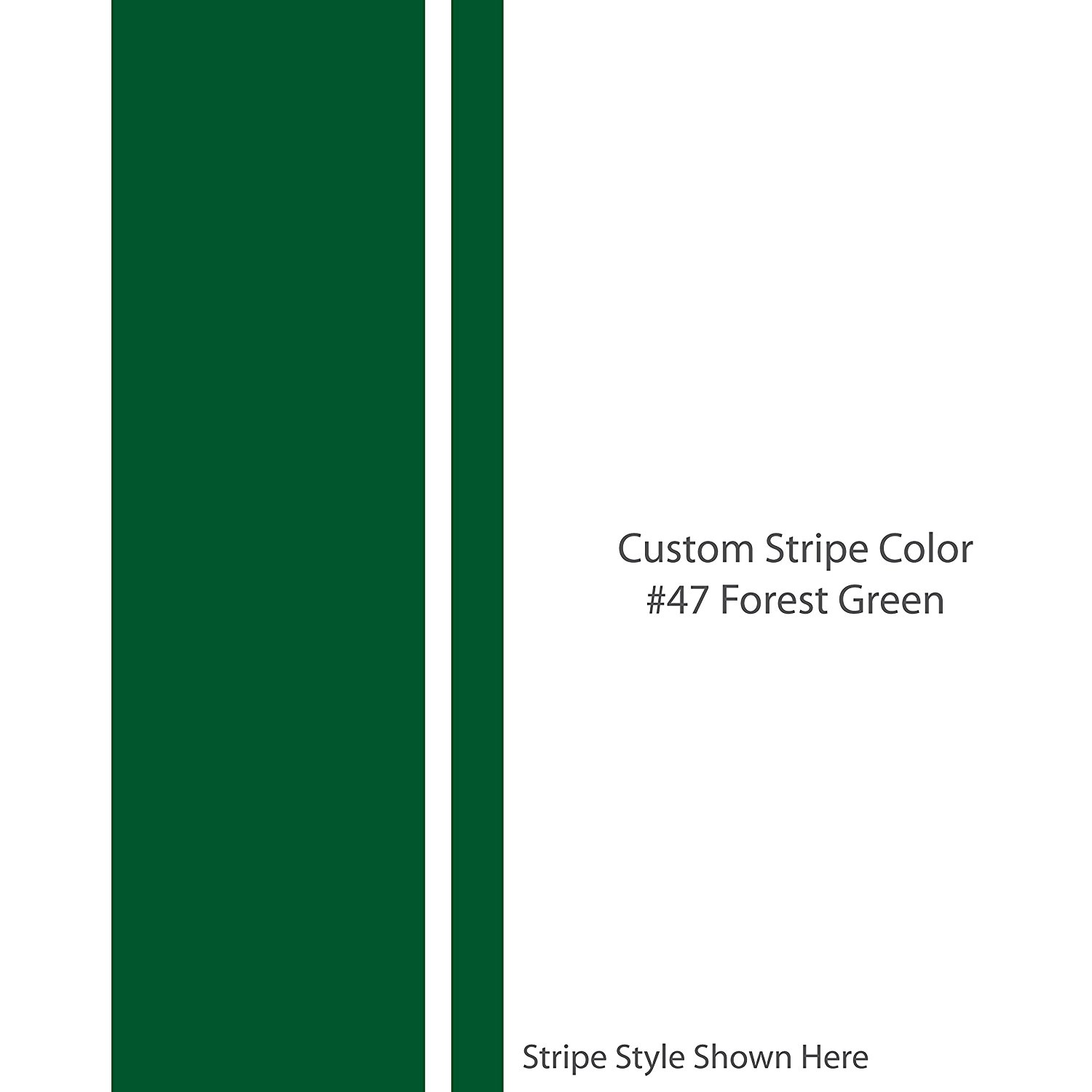 "The JAKE 13"" inch wide Custom Racing Stripes / FOREST GREEN / Universal fit / car truck auto vehicle hood van race motorcycle bike mustang dodge ford chevy vinyl strip decal / By 1060 Graphics."