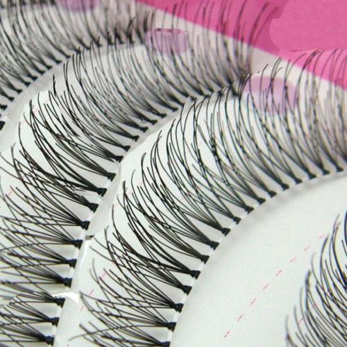 Newpee 10Pairs Natural Thick Long False Eyelashes Fake Eye Lashes Voluminous Makeup Set