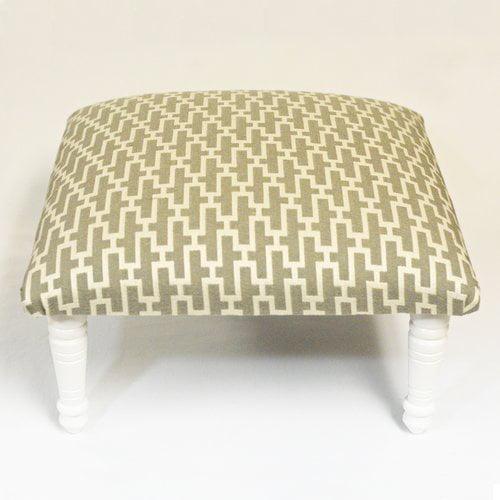 Corona Decor Zig Zag Geometric Footstool by Corona Decor