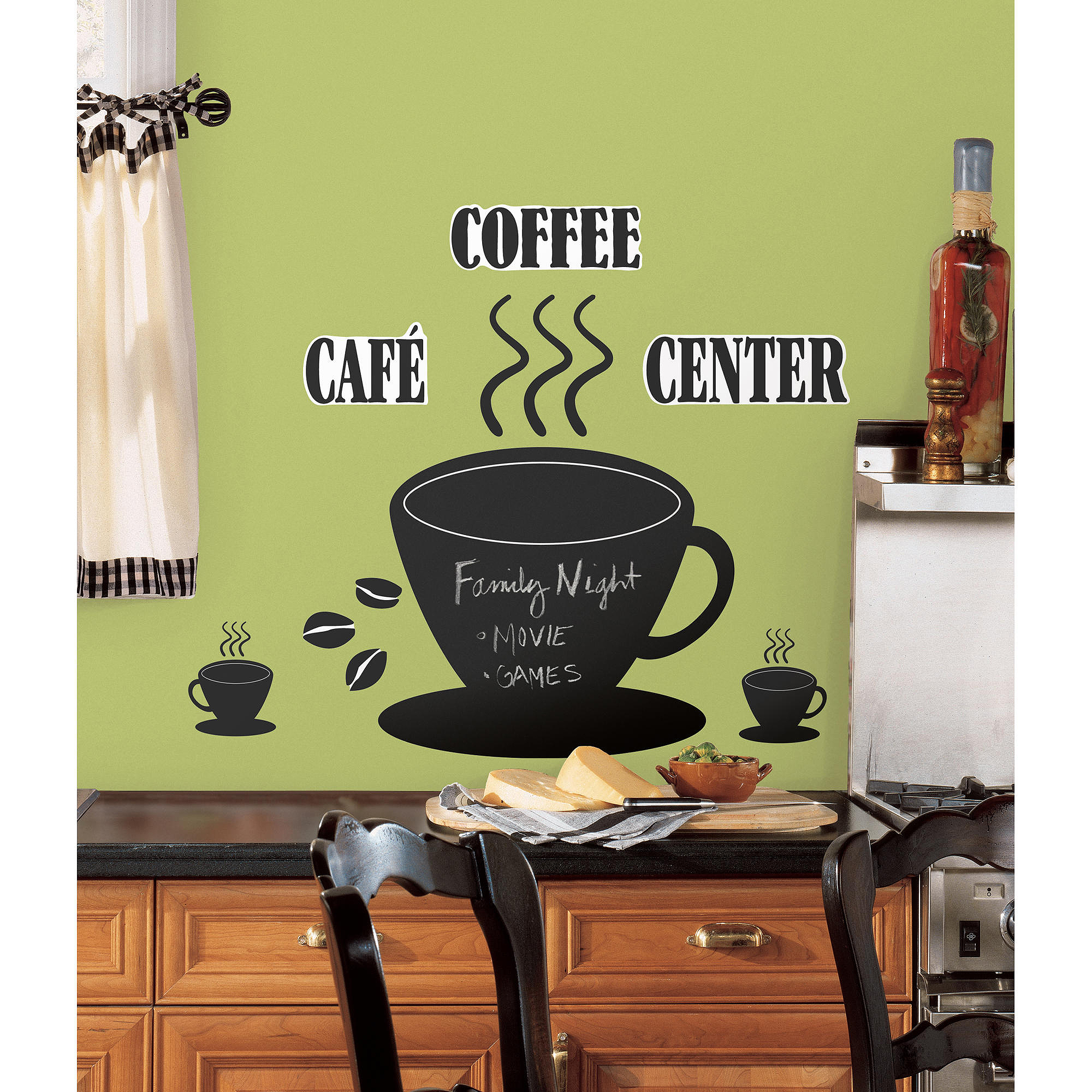 RoomMates Coffee Cup Chalkboard Peel and Stick Wall Decals