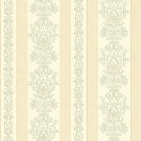 Mirage Damask Wallpaper (Mirage Kensington Damask Stripe Wallpaper )