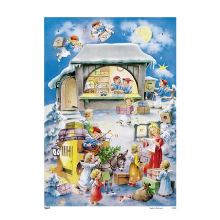 Alexander Taron Korsch Angel Post Office Advent Calendar  Set Of 2