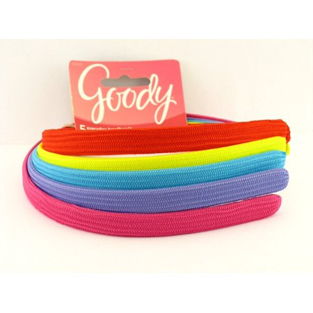 Gooby Fashion (Girls Cherry Fabric Head Bands - 5 pk (Rainbow Colors), Cool Colors To Match Many Different Outfits By Goody Ship from US )