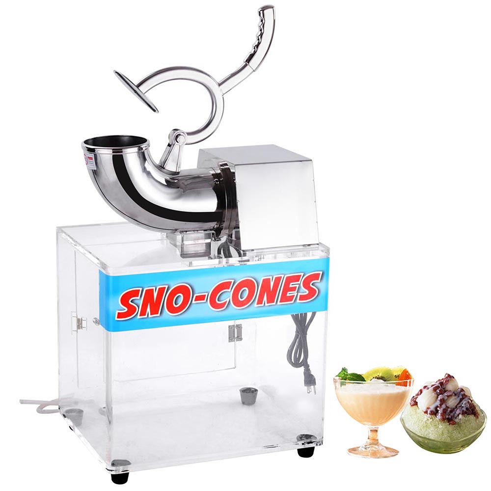 yescom 250w 110v electric snow cone machine ice shaver maker stainless steel crusher 440lbshr - Snow Cone Machines