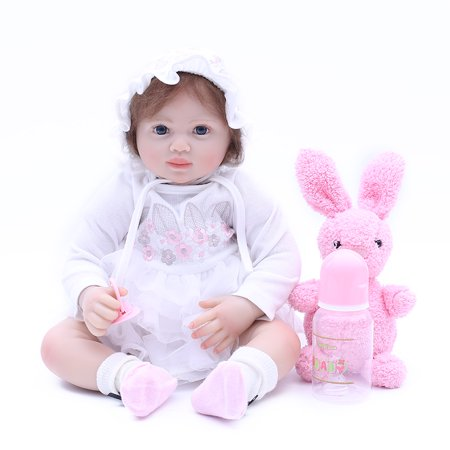 Reborn Baby Doll Soft Silicone 20inch 50cm Magnetic Lovely Lifelike