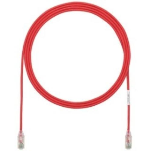 Panduit Cat.6 Utp Patch Network Cable - Category 6 For Network Device - Patch Cable - 1 Ft - 1 Pack - 1 X Rj-45 Male Network - 1 X Rj-45 Male Network - Clear, Red (utp28sp1rd)