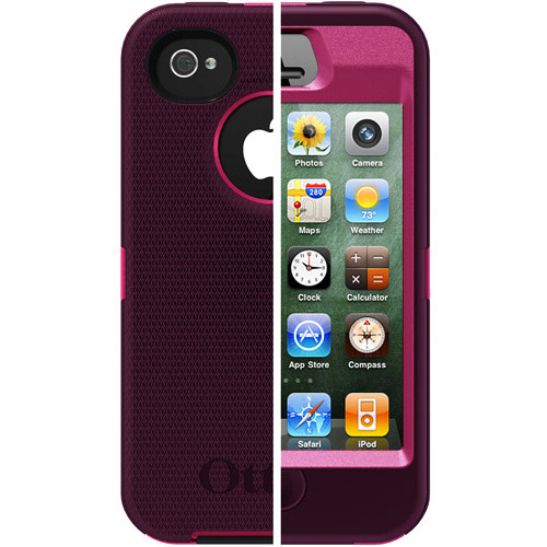 OtterBox Apple iPhone 4/4s Case Defender Series, Peony Pink/Deep Plum