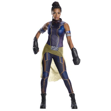 Women Skeleton Halloween Costume (Marvel Black Panther Movie Womens Deluxe Shuri Halloween)