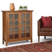 """WyndenHall  Normandy Solid Wood 39 inch Wide Rustic Medium Storage Cabinet - 39""""w x 17""""d x 42.2""""h"""