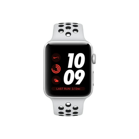 Apple Watch Nike+ Series 3 (GPS) - 38 mm - silver aluminum - smart watch  with Nike sport band