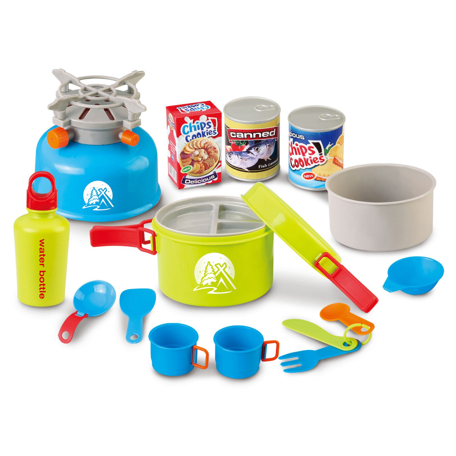Merske Berry Toys Little Explorer 15-piece Camping Cooker Play Set