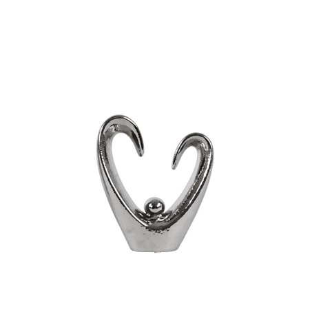 Urban Trends Collection: Ceramic Abstract Sculpture Polished Chrome Finish Silver