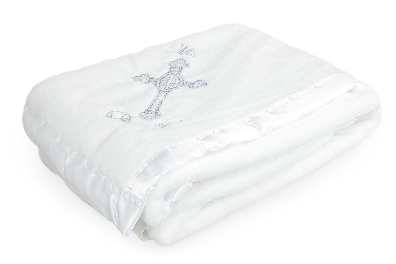 "Silky Soft Microfiber Baptism   Christening Baby Blanket Gift, Baptismal Baby Blanket 41"" x 36""... by"