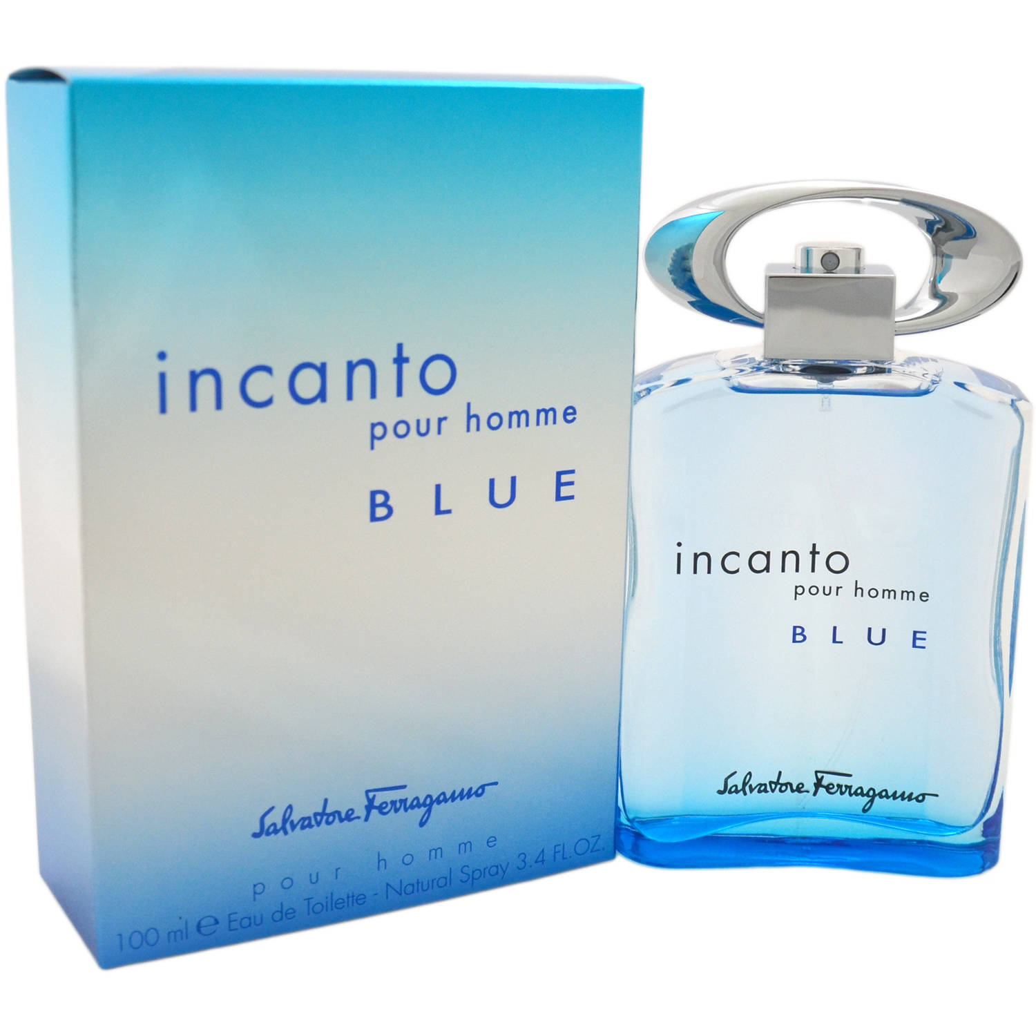 Salvatore Ferragamo Incanto Blue Eau de Toilette Natural Spray for Men, 3.4 fl oz