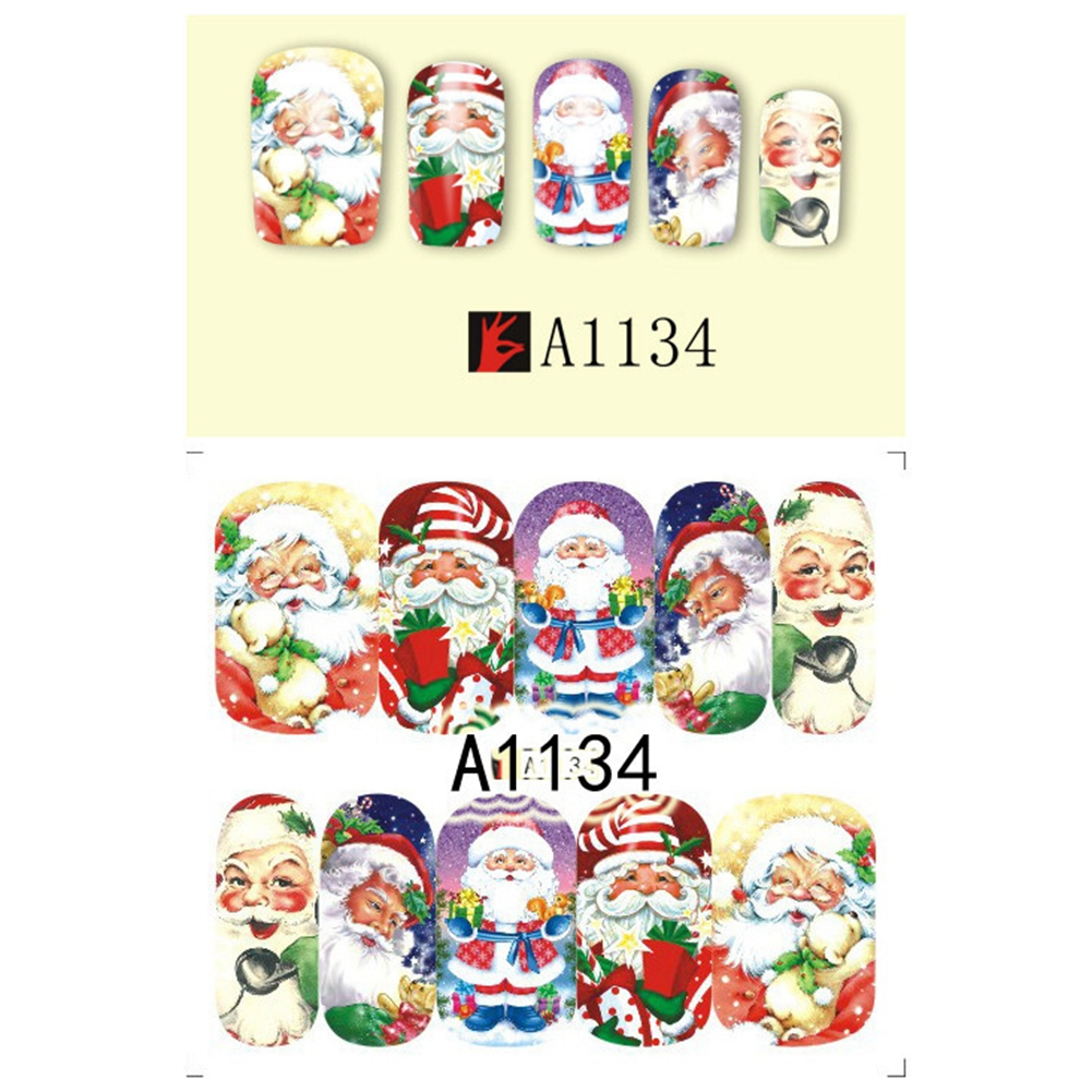 Nail Art Tips Nail Decal Stickers Christmas Decor A1134