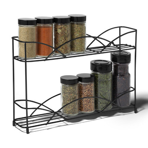 Spectrum Diversified Countertop 2-Tier Spice Rack