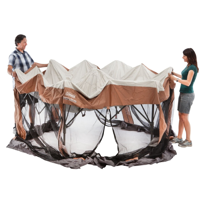 Coleman Back Home 12 X 10 Foot Instant Screen House Hexagon Canopy |  2000028003   Walmart.com