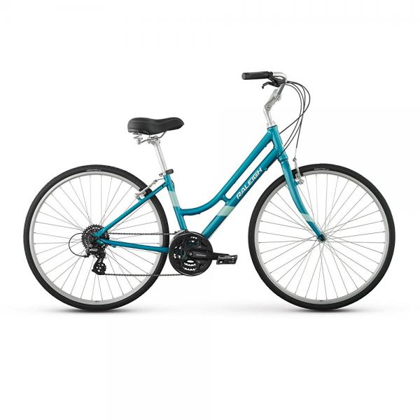 "raleigh bikes detour 3 women's comfort bike, teal, 17""/medium"