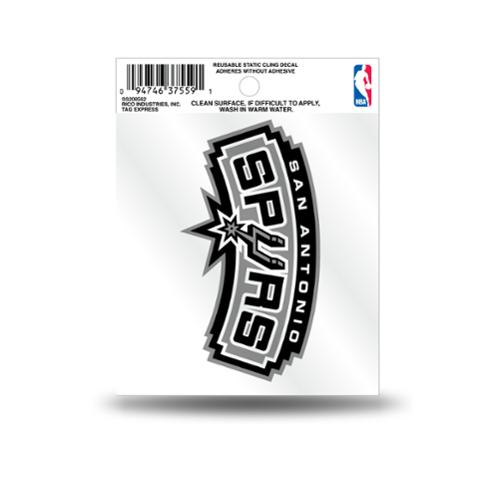 San Antonio Spurs Official NBA 3.5 inch  Small Static Cling Window Car Decal by Rico