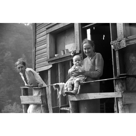 Coal Miners Family 1938 Nmother Wife And Baby Of Unemployed Coal Miner Marine West Virginia Photograph By Marion Post Wolcott September 1938 Rolled Canvas Art     24 X 36