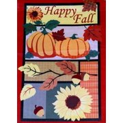 Happy Fall Autumn Garden Flag