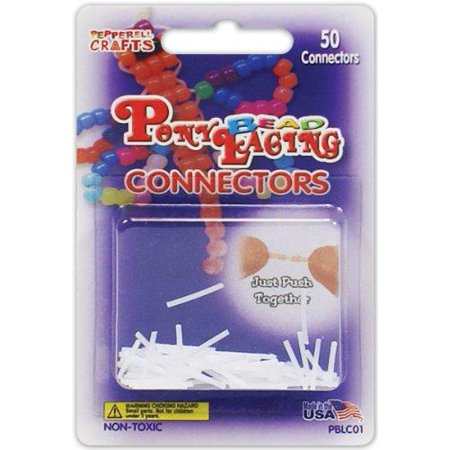Pepperell Pony Bead Lacing Connectors, 50 Per Package - image 1 of 1