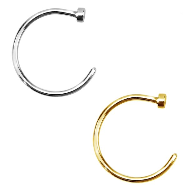 Forbidden Body Jewelry Set Of 2 Nose Hoops Gold Plated