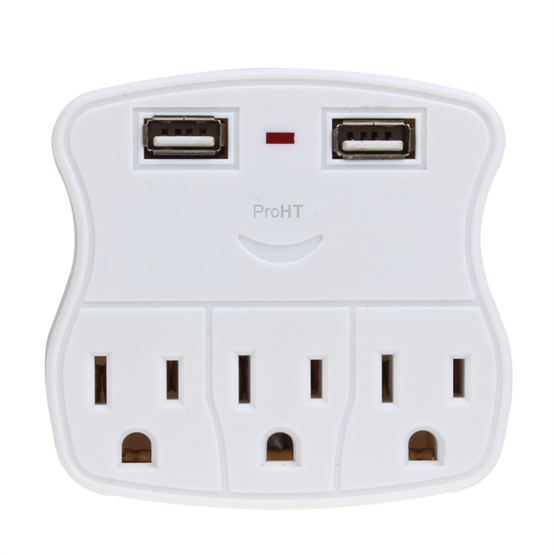 Wall Tap Surge Protector with 2 USB Charging Ports