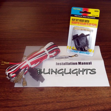 New Universal Wiring Kit Auxilliary Offroad Driving Brush Bar Lights 4X4 ATV Off Road Trail Fog Lamps 4 X 4 Off Road Driving