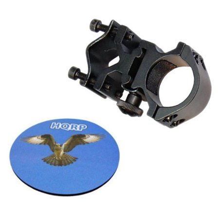 HQRP Tactical Flashlight Mount / Holder with Barrel / Weaver / Picatinny Mount Type for Night Hunting + HQRP Coaster