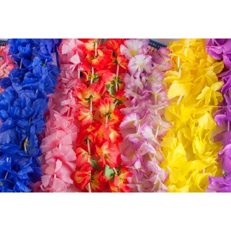 100 Piece Assorted Hawaiian Flower Fabric Luau Leis Mega Party Pack](Luau Party Bags)