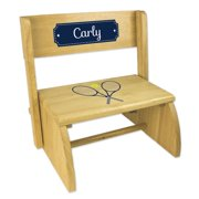 Personalized Tennis Natural Flip Stool